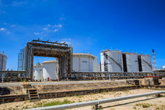 Plant Petroleum. Refinery Industry tank production petroleum and pipeline Royalty Free Stock Photos