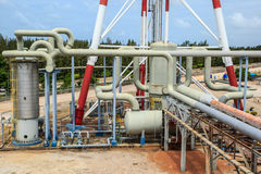 Plant Petroleum. Refinery Industry tank production petroleum and pipeline Stock Photo
