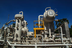 Plant Petroleum. Refinery tank petroleum and pipeline Royalty Free Stock Image
