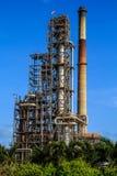 Plant Petroleum. Smokestack plant refinery Industry tank petroleum and pipeline Stock Photos