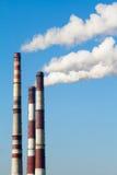 Plant pipe with smoke Royalty Free Stock Photos