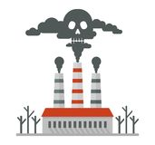 Plant pollutes air deadly smoke Royalty Free Stock Photography