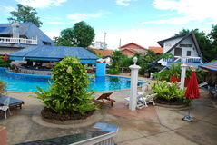 Plant and pool. They are plant and pool in garden.this place is in east of thailand Stock Photography