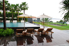 Plant and pool outdoor design. This is plant and pool outdoor design in hotel.this place is in ast of thailand Stock Photos