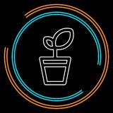 Plant pot icon, vector flower plant, gardening illustration stock illustration