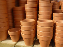 Plant pots Stock Photos