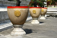 Plant pots. With red edging Stock Photography
