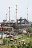 Plant processing of coal an. JSC Plant Slantsy, Leningrad region, Russia. Processing of coal and secondary oil refining Stock Images