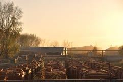 brick factory stock photo