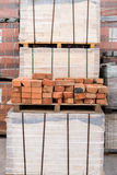 plant for production building material with ready brick Stock Image
