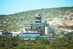 Cement plant. Royalty Free Stock Photography