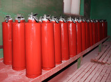 Plant for the production of fire extinguishers Royalty Free Stock Photography