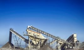 Plant for production of gravel gravel-pit Royalty Free Stock Image