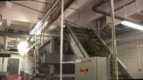 Plant for the production of marine products. Washout seaweed