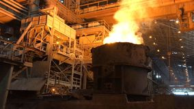 Plant for the production of metal. stock photography