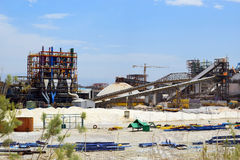 Plant for the production of mineral fertilizers, Dead Sea, Israel Stock Photos