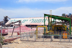 Plant for the production of mineral fertilizers, Dead Sea, Israel Royalty Free Stock Photos