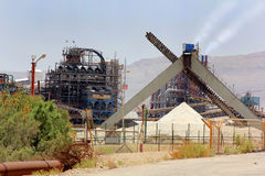 Plant for the production of mineral fertilizers, Israel Royalty Free Stock Photography