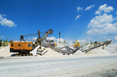 Plant for the production and sorting of crushed stone Stock Photo