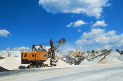 Plant for the production and sorting of crushed stone Royalty Free Stock Photo
