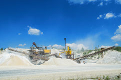 Plant for the production and sorting of crushed stone Stock Image