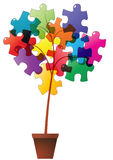 Plant puzzle Royalty Free Stock Photography