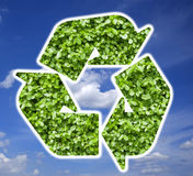Plant Recycle Symbol Royalty Free Stock Photos