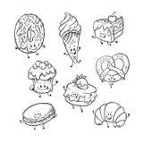Plant sött humaniserat sötsaktecken för vektor - uppsättning vektor illustrationer