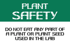Plant safety sign. Stock Photos