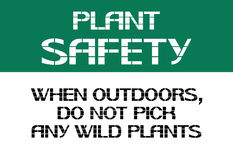 Plant safety sign. Royalty Free Stock Images