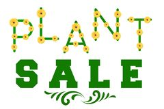 Plant Sale Sign Stock Image