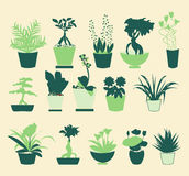 Plant silhouette collection - Illustration Royalty Free Stock Images