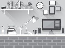 Plant skrivbord för mörker Arkivbild