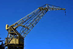 Sky  and crane Royalty Free Stock Image