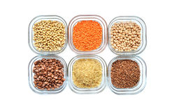 Plant sources of protein Royalty Free Stock Images
