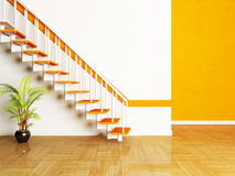 A plant and a stairs in the room Royalty Free Stock Images