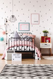 Pastel kids room with bed Stock Images