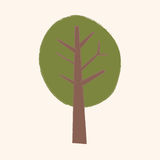 Plant tree flat icon elements,eps10 Royalty Free Stock Images