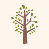 Plant tree flat icon elements,eps10 Stock Photo
