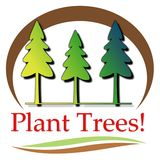 Plant Trees Illustration stock photos