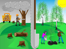 Plant trees. To save environment Stock Image