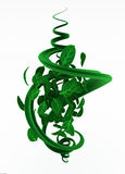 Plant Whirl Spiral. Green 3d vine plant and leaf abstract Stock Photography