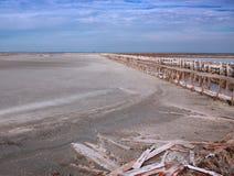 A plantação de sal Fotos de Stock Royalty Free