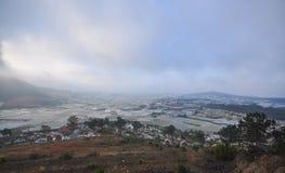 Plantação vegetal em Dalat, Vietname Foto de Stock Royalty Free