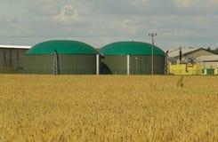 Planta 10 del biogás Imagen de archivo libre de regalías