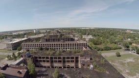 Planta aérea de Detroit Packard vídeos de arquivo