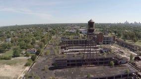 Planta aérea de Detroit Packard almacen de metraje de vídeo