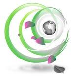 Planta & globo ilustração stock