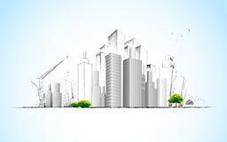 Planta arquitectónica ilustração stock