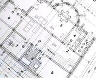 Planta arquitectónica Imagem de Stock
